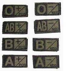 Condor Blood Type Patch - OD - B Neg