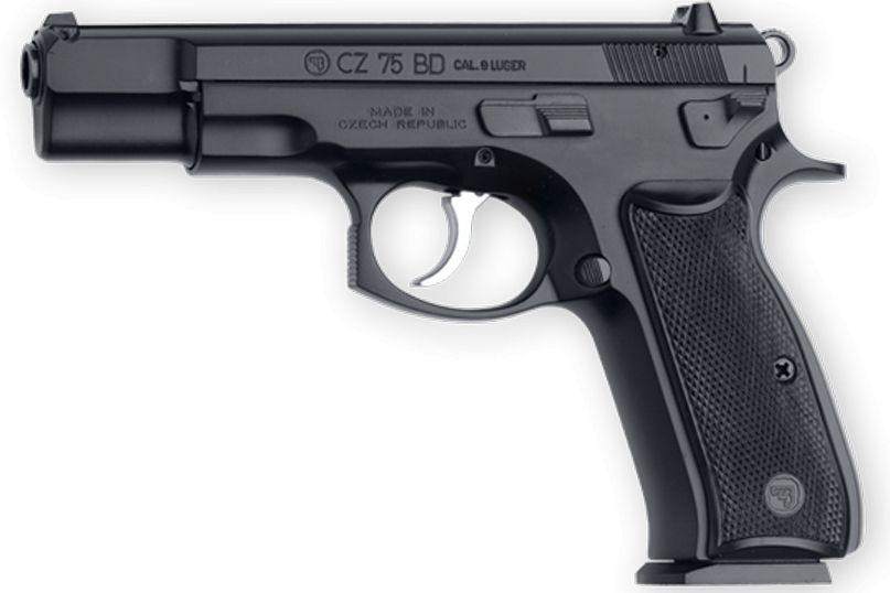 "CZ 75BD Semi-Auto Pistol 01130, 9MM, 4.7"", Black Frame, Black Slide, w/Decocker, 10 Rd"