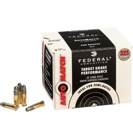 Federal Rimfire Ammunition 745FF, 22 Long Rifle, Copper Plated Hollow Point, 36 GR, 1100 fps, 325 Rounds