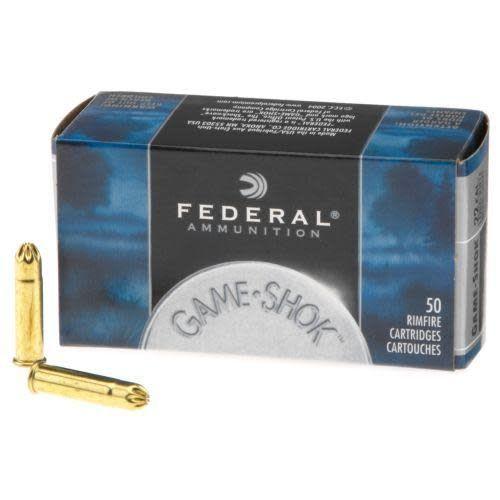 Federal, GameShok, 22LR, #12 Shotshell, Lead Shot, 50 Round Box