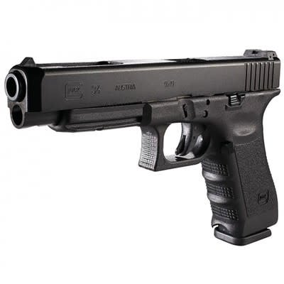 Glock Glock 34 (BLUE LABEL) Competition Pistol PI3430200, 9 MM, 5.32 in, Fixed Sights