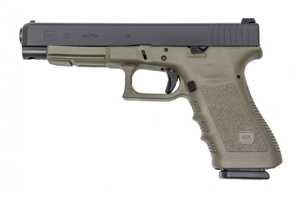 Glock Glock 35 Pistol , .40 S&W, 5.32 in, OD Green