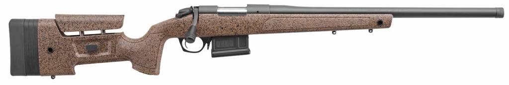 "Bergara Bergara Rifles B14S352 B-14 HMR Bolt 6.5 Creedmoor 22"" 5+1 Synthetic/Mini-Chassis Brown Stk Blued"