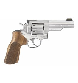 "Ruger 1775 GP100 Match Champion Revolver 10mm 4.2"" 6 Rd Hardwood Hogue Grip Stainless Steel"