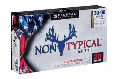 Federal 3006DT150 Non-Typical Whitetail 30-06 Springfield 150 GR Soft Point 20 Bx/ 10 Cs