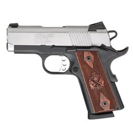 """Springfield Springfield EMP Pistol PI9210LP, 9 MM, 3"""", G10 Grips, Black Anodized Frame, Stainless Slide, Fixed Low Profile Combat Rear Dovetail Front Tritium Night Sights, 9 Rd"""