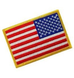 USA Flag Velcro Patch (Reverse) - Red, White, & Blue