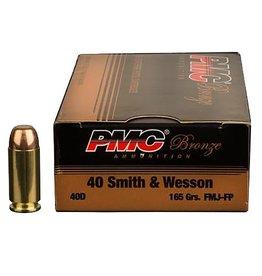 PMC Bronze Ammunition .40 S&W 40D 165 grn FMJ - 50 rd box