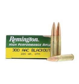 Remington Ammunition R300AAC8 Subsonic 300 AAC Blackout/Whisper (7.62X35mm) 220 GR OTM 20 Bx/ 10 Cs