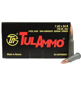 Tulammo TA762548 Centerfire Rifle 7.62X54R, 148 GR FMJ 20 Bx/ 25 Cs
