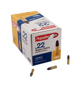 Aguila Standard Velocity Rifle Ammunition 1B222332, 22 Long Rifle, Solid Point, 40 GR, 1085 fps, 500 Rd/bx