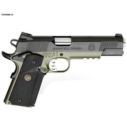 "Springfield Springfield Loaded Full Size MC Operator Pistol PX9105MLP, 45 ACP, 5"", Pachmayr Wraparound Rubber Grips, Olive Drab & Black Armory Kote, Fixed Low Profile Combat Rear Dovetail Front Tritium Night Sights, 7 Rd"