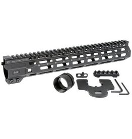 "Midwest Industries, Combat Rail M-Lok Handguard, Fits AR Rifles, 12.625"", Wrench Included, Black Finish"