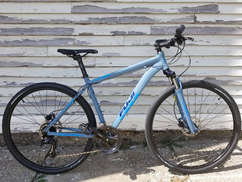 Fuji TRAVERSE 1.5 DISC 2017 BLUE GRAY / CYAN 19IN