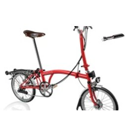 Brompton H6R Red w/reduced gearing, Marathon tires, Shimano Dynamo, Brook's Men's Saddle + Tool Kit