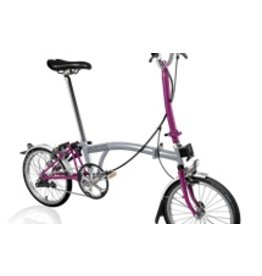 Brompton H3L Grey / Berry Crush