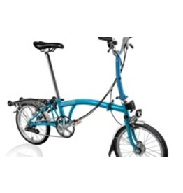 Brompton M6R Lagoon Blue w/Shimano Hub Dynamo and Reduced Gearing