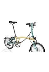 Brompton S6L Ivory / Turkish Green w/Kojak Tires