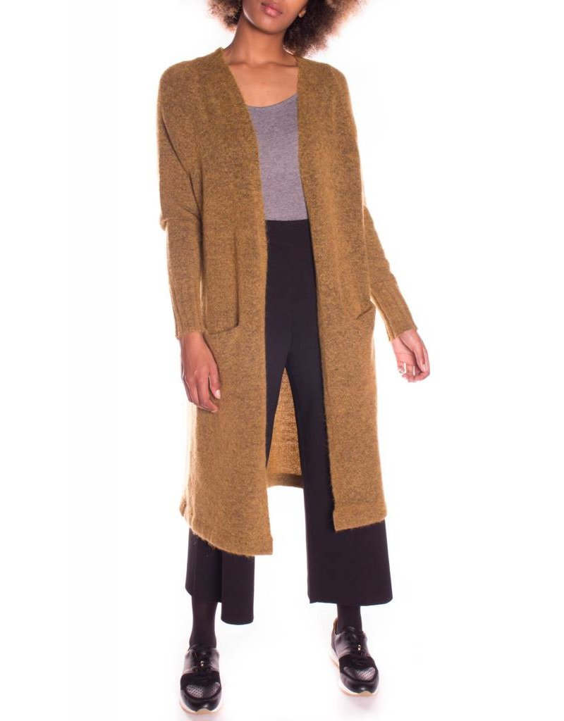 SOAKED IN LUXURY ISBEA CARDIGAN  MUSTARD