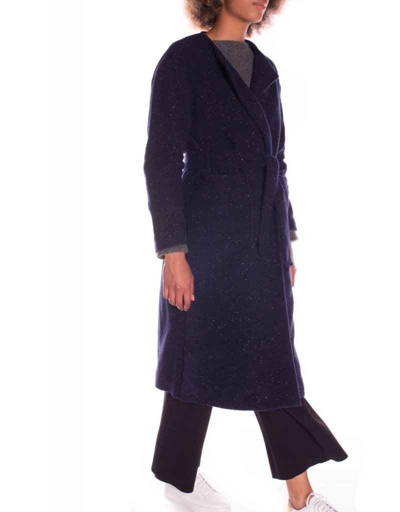 MOTTLED WOOL COAT