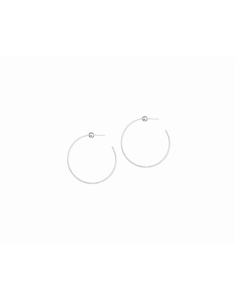 JENNY BIRD ICON HOOPS SILVER SMALL