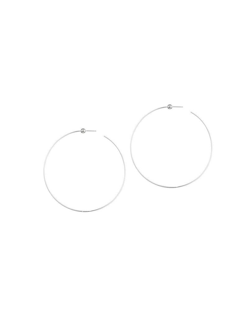 JENNY BIRD ICON HOOPS SILVER MEDIUM