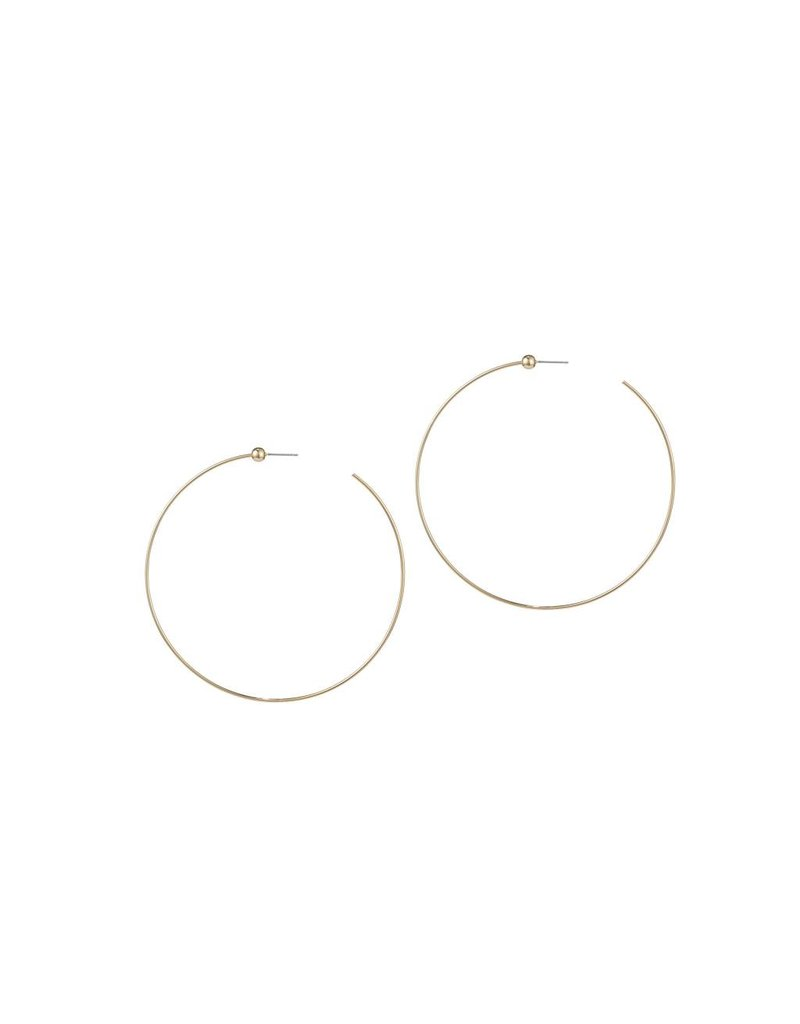 JENNY BIRD ICON HOOPS GOLD MEDIUM