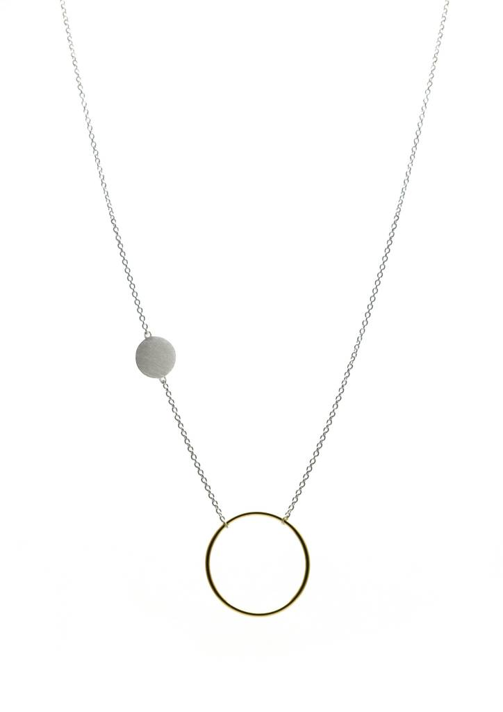 COLLIER CERCLE + ROND 2 TONS