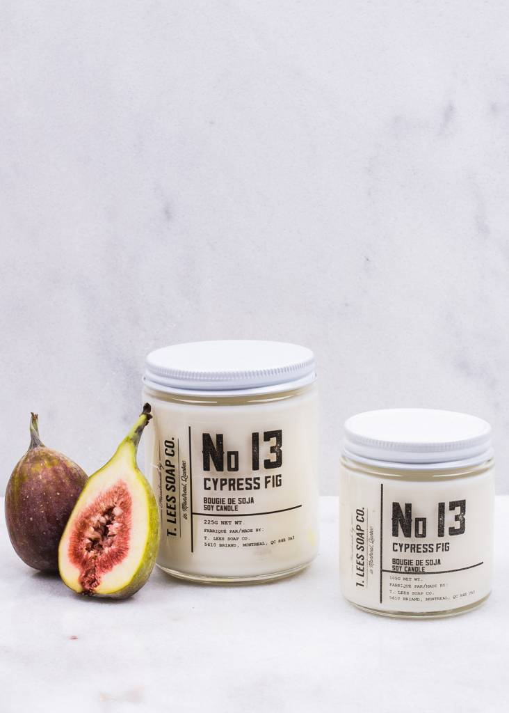 T.LEES NO.13 CYPRESS FIG SOY CANDLE