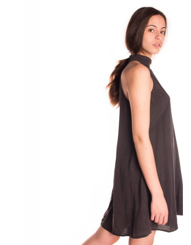 MOCK NECK HALTER DRESS