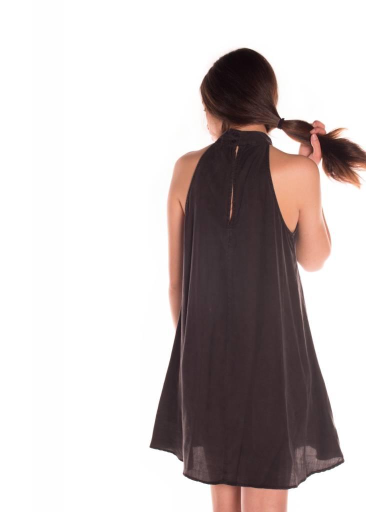 MOCK NECK HALTER DRESS