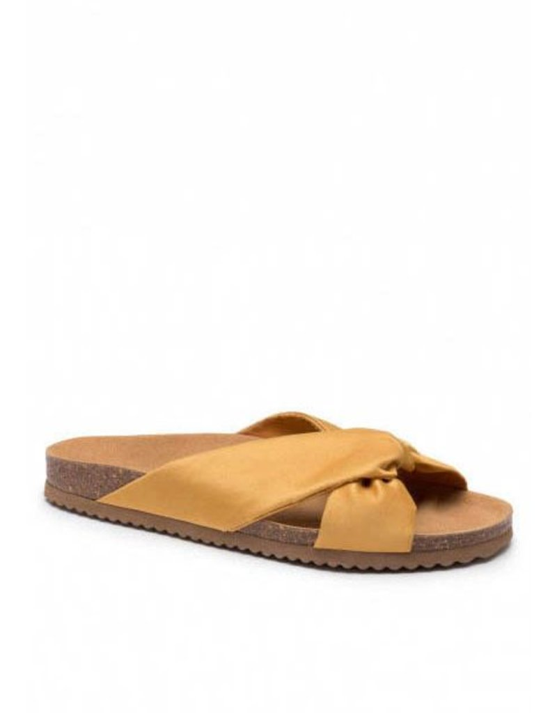 SATIN BIO SANDALS YELLOW