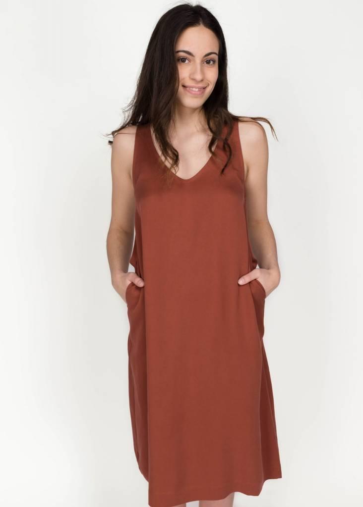 AMANDA MOSS JONI DRESS COPPER