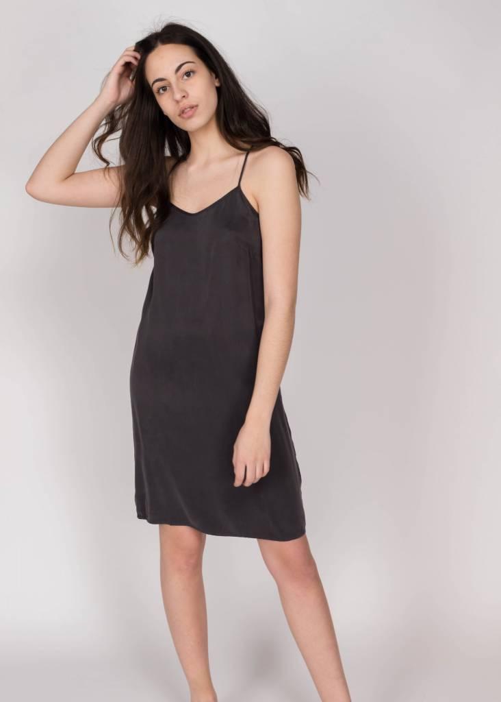 YAYA STRAPPY DRESS LACE INSERT BLACK