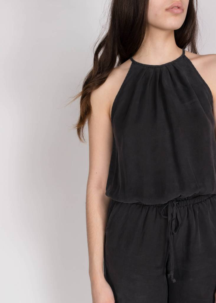 PLEATED CROP LEG JUMPER