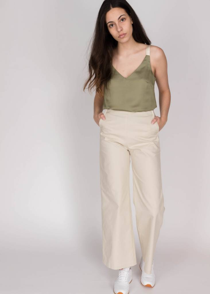 YAYA WOVEN TOP WITH STRAPS