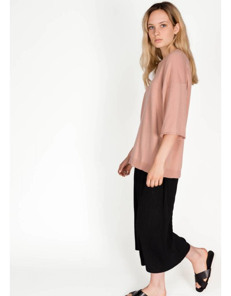 YAYA OVERSIZED KNITWEAR FADED PINK TOP