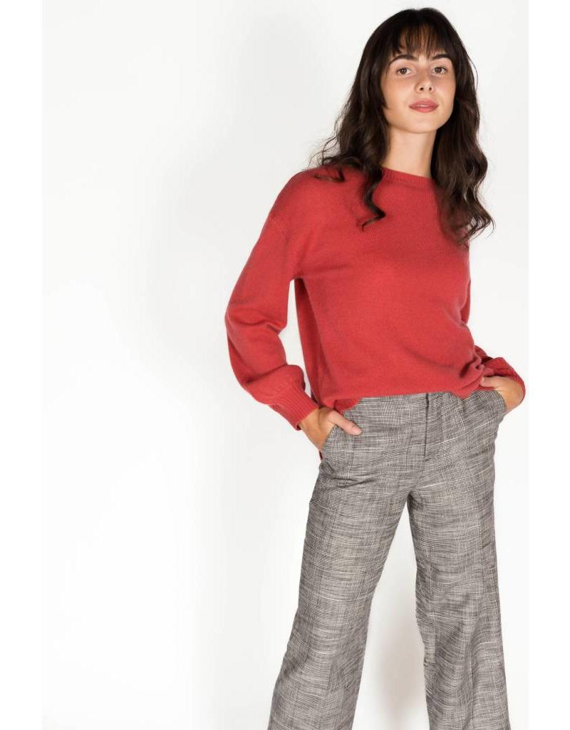CASHMERE CLASSIC BUBBLE SLEEVE SWEATER