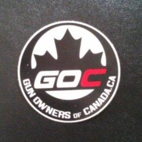 """Gun Owners of Canada 3"""" Round Sticker"""