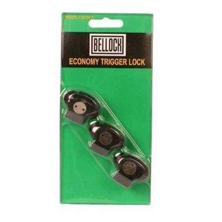 Bell Bellock Economy Trigger Lock - 3 Pack