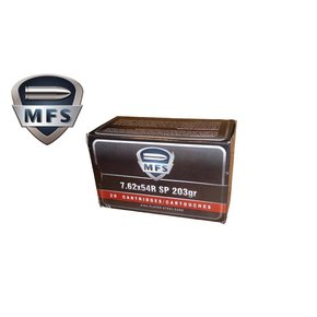 MFS MFS 7.62X54R SP Non-Corrosive, 203 GR Box Of 20 Rds