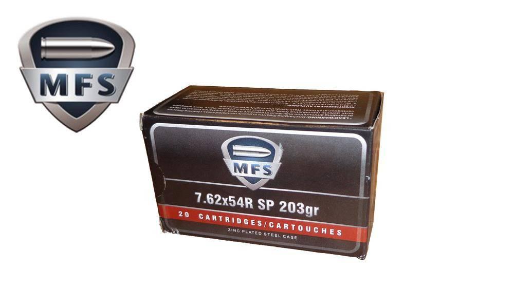 MFS MFS 7.62X54R SP Non-Corrosive, 203 GR Box Of 20 Rds