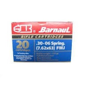 Barnaul Barnaul Ammunition, 30-06 Springfield 145gr FMJ Box of 20