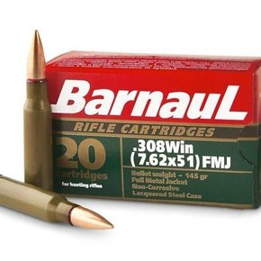 Barnaul Barnaul 308 Win, 145gr, FMJ, Box of 20