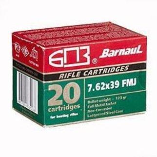 Barnaul Barnaul 7.62 x 39mm, 123 GR, Full Metal Jacket Box of 20
