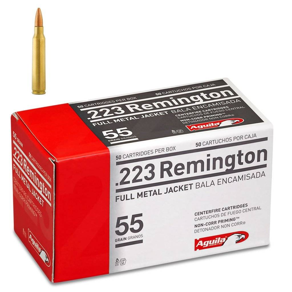 Aguila Aguila 223 Rem, 55gr, FMJ BT, Box of 50