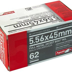 Aguila Aguila 5.56 NATO, 62gr, FMJ, BT, Box of 50