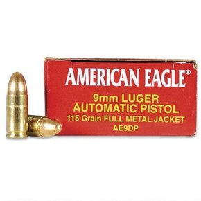 Federal American Eagle 9mm Luger 115 Gr. FMJ Box of 50
