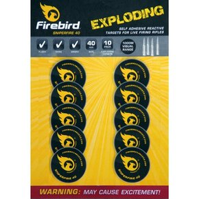 Firebird Firebird Sniperfire 40 Exploding Self Adhesive Reactive Targets for Live Firing Rifles
