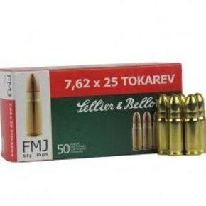 Sellier & Bellot 7.62x25 Tokarev 85 Grains FMJ